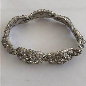 "Vintage Signed Trifari Deco Style 6 3/4"" Bracelet"